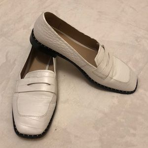 Something Navy White Loafers